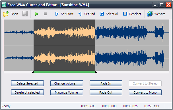 Free WMA Cutter and Editor - wma cutter,wma editor - A free, simple and handy WMA audio cutter and editor
