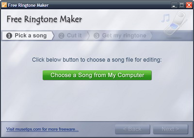 Make Your Own Ringtone - Step 1